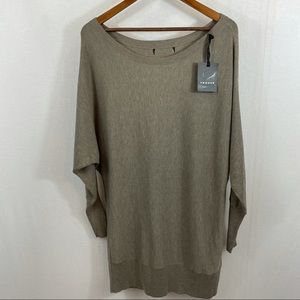 Trouve Wide Neck Dolman Sleeve Sweater Small?